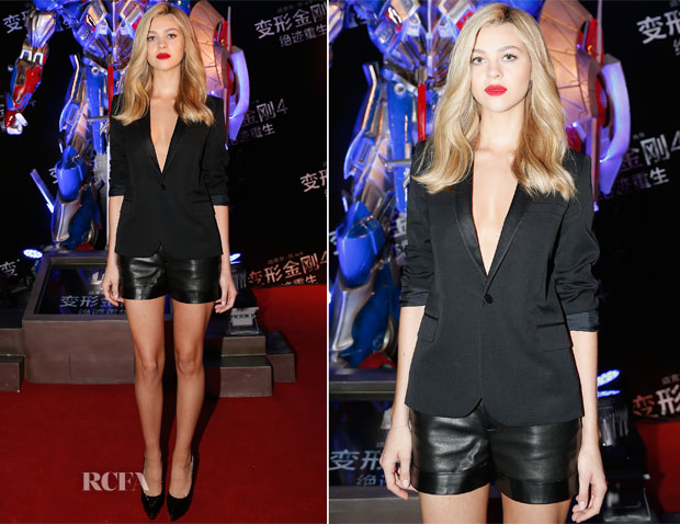 Nicola Peltz In Saint Laurent -  'Transformers Age of Extinction' Beijing Premiere