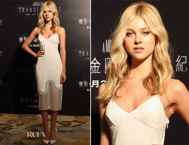Nicola Peltz In Stella McCartney - 'Transformers Age of Extinction' Hong Kong Photocall