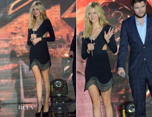 Nicola Peltz In Stella McCartney - 'Transformers Age Of Extinction' Shanghai Premiere