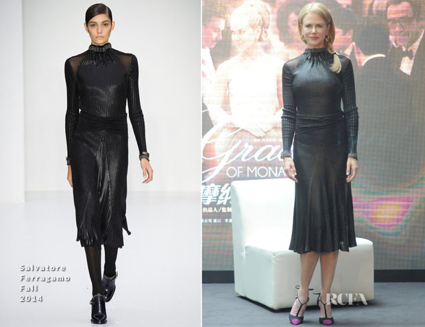 Nicole Kidman In Salvatore Ferragamo - 'Grace of Monaco' Shanghai Film Festival Press Conference