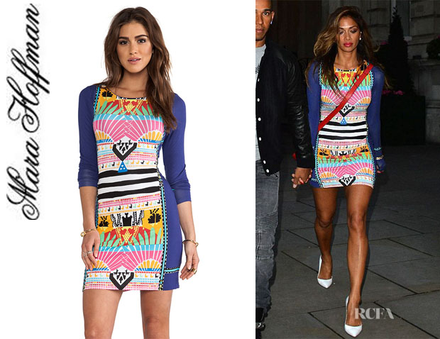 Nicole Scherzinger's Mara Hoffman Long Sleeve Mini Dress1