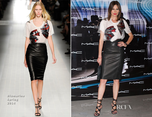 Nieves Alvarez In Blumarine - MAC Makeup Catwalk