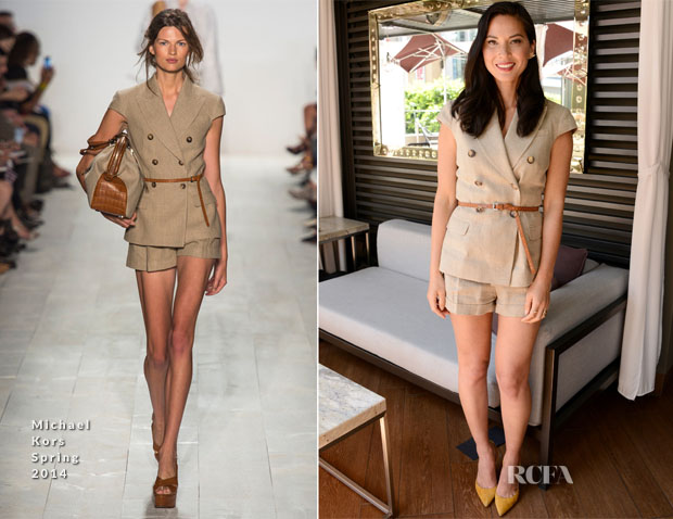 Olivia Munn In Michael Kors - Los Angeles Film Festival Coffee Talks Actors