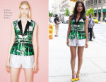 Olivia Munn In Peter Pilotto - 'Deliver Us From Evil' Press Junket
