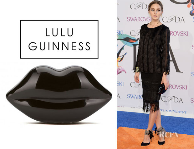 Olivia Palermo's Lulu Guinness Perspex Lips Clutch1