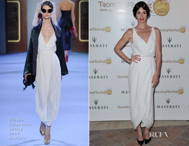 Paz Vega In Ulyana Sergeenko Couture - 60th Taormina Film Festival