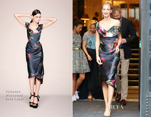 Poppy Delevingne In Vivienne Westwood Gold Label - Vienna Fashion Night 2014