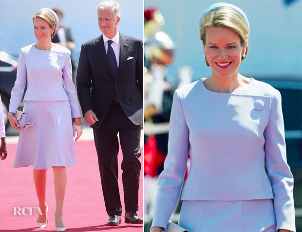 Queen Mathilde of Belgium In Christian Dior – 70th Anniversary of D-Day  Ceremony 0a94b84e9