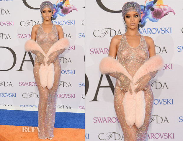 Rihanna In Adam Selman - 2014 CFDA Fashion Awards