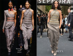 Rihanna In Balmain - 'Rogue by Rihanna' Paris Launch