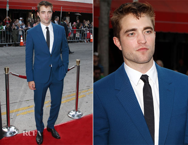 Robert Pattinson In Alexander McQueen - 'The Rover' LA Premiere