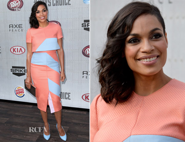 Rosario Dawson In Roksanda Ilincic - Spike TV's 'Guys Choice 2014′