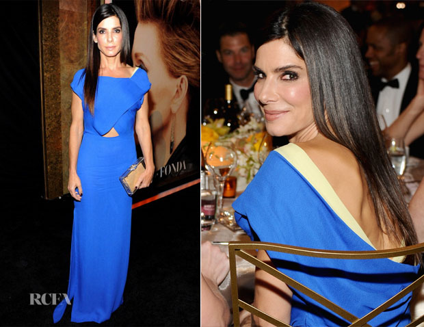 Sandra Bullock In Vionnet - AFI Life Achievement Award A Tribute To Jane Fonda