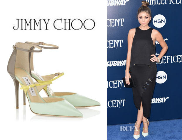 Sarah Hyland's Jimmy Choo 'Typhoon' Leather Pumps