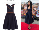 Sarah-Jane Crawford's Preen by Thornton Bregazzi 'Frenzy Flo' Stretch-Crepe Dress