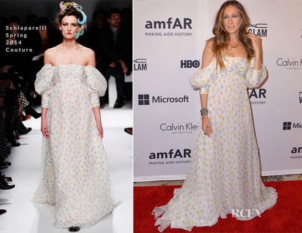 Sarah Jessica Parker In Schiaparelli - amfAR Inspiration Gala New York 2014