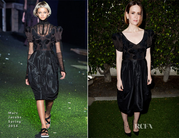 Sarah Paulson In Marc Jacobs American Horror Story Coven Screening