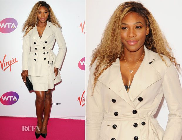 Serena Williams In Burberry - WTA Pre-Wimbledon Party