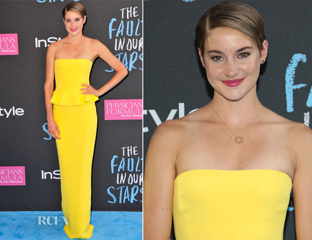 Shailene Woodley In Ralph Lauren Collection - 'The Fault in Our Stars' New York Premiere
