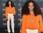 Solange Knowles In Gucci - Chime for Change One-Year Anniversary Event