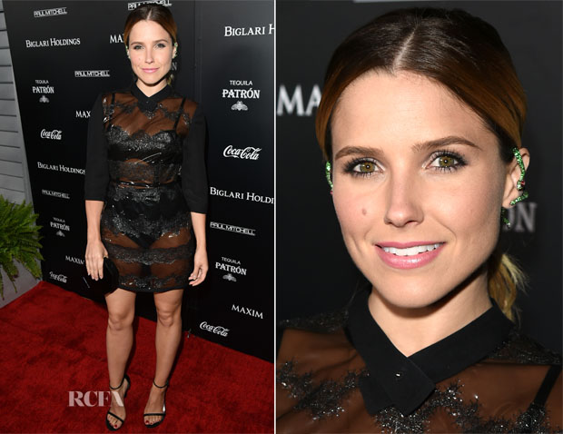 Sophia Bush In Fleur du Mal - Maxim's Hot 100 Women Of 2014 Celebration