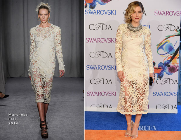 Sophia Bush In Marchesa - 2014 CFDA Fashion Awards