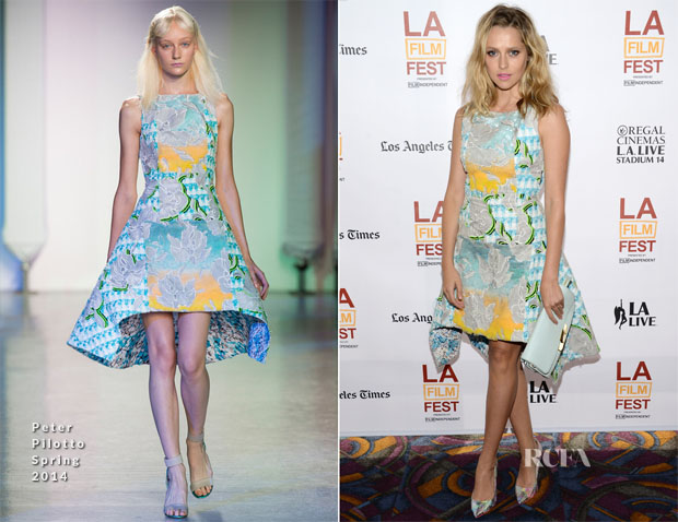 Teresa Palmer In Peter Pilotto - 'The Ever After' Los Angeles Film Festival Premiere