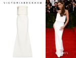 Victoria Beckham's Victoria Beckham Silk And Wool-Blend Gown
