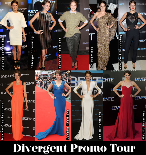 Which Was Your Favourite Shailene Woodley 'Divergent' Promo Tour Look