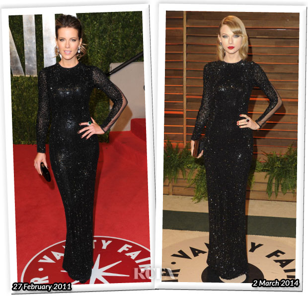 Who Wore Julien Macdonald Better Kate Beckinsale or Taylor Swift