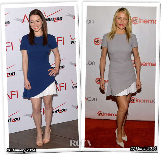 Who Wore Victoria Beckham Better Emilia Clarke or Cameron Diaz