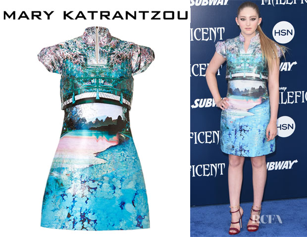 Willow Shield's Mary Katrantzou Caspian Jacquard Valee Dress