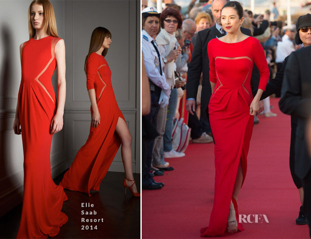 Zhang Ziyi In Elie Saab R14 - 28th Cabourg Film Festival