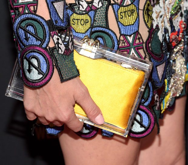 Diane Kruger's Charlotte Olympia clutch
