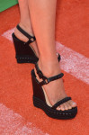 Megan Fox's Christian Louboutin 'Cataclou' espadrille wedges