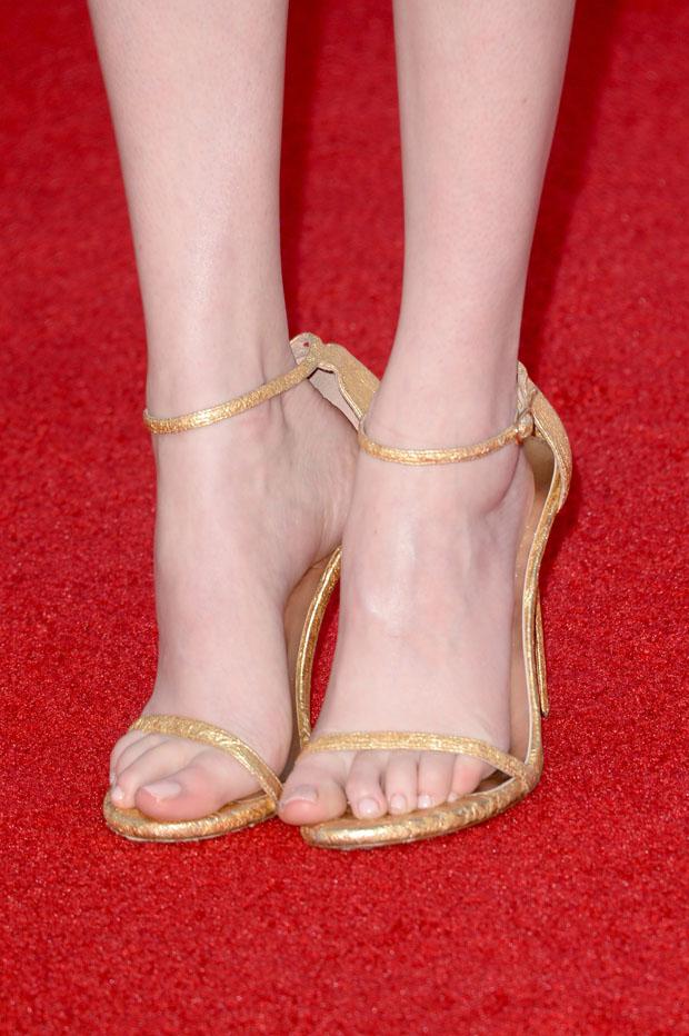 Karen Gillan's Stuart Weitzman 'Nudist' sandals