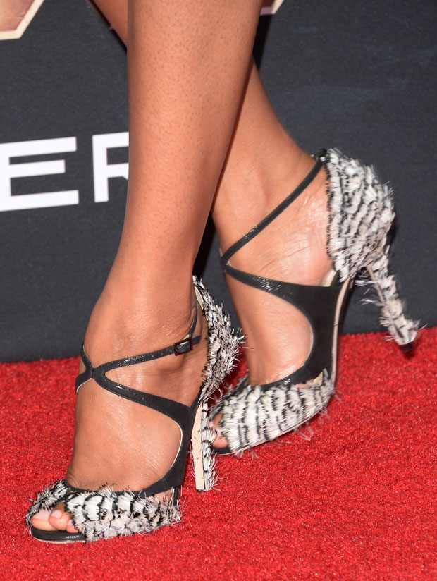 Zoe Saldana's Jimmy Choo shoes