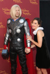 "Madame Tussauds Hollywood MARVEL Wax Figures Pose Alongside Talent At ""Guardians Of The Galaxy"" Premiere"