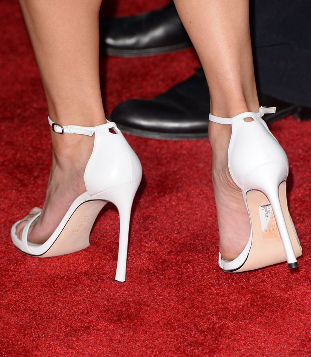 Anna Faris' Stuart Weitman 'Nudist' Sandals