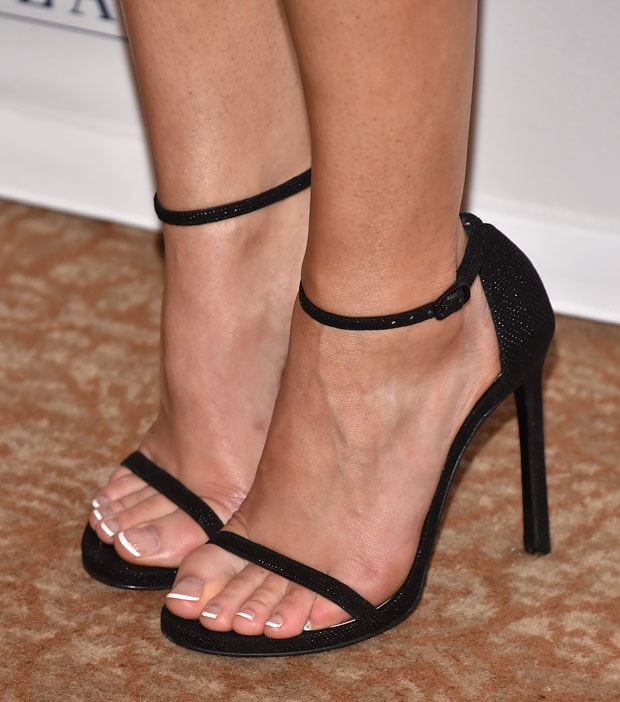 Joanne Froggatt's Stuart Weitzman 'Nudist' sandal