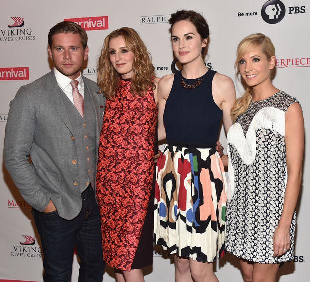 Laura Carmichael in Erdem, Michelle Dockery in Victoria Beckham and Joanna Froggatt in Stella McCartney