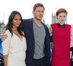 Zoe Saldana, Chris Pratt and Karen Gillan - 'Guardians Of The Galaxy' London Photocall