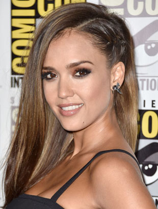 Get The Look: Jessica Alba's Comic-Con Funky Modern Do