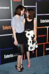 Sarah Paulson in Lela Rose & Emma Roberts in Houghton & Tanya Taylor