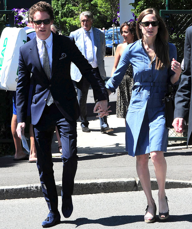 Eddie Redmayne and fiance Hannah Bagshawe couple up for Wimbledon **USA ONLY**