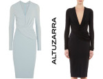 ALTUZARRA Marlene draped crepe and stretch-jersey dress