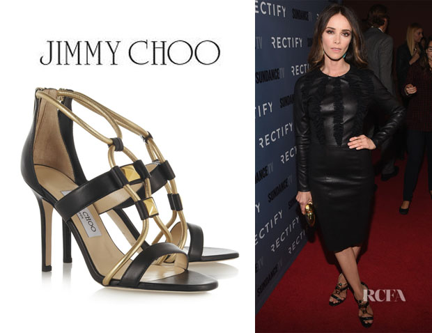 Abigail Spencer's Jimmy Choo 'Venus' Leather Sandals