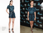 Ahna O'Reilly In Monique Lhuillier - 'The Long Shrift' Opening Night After Party
