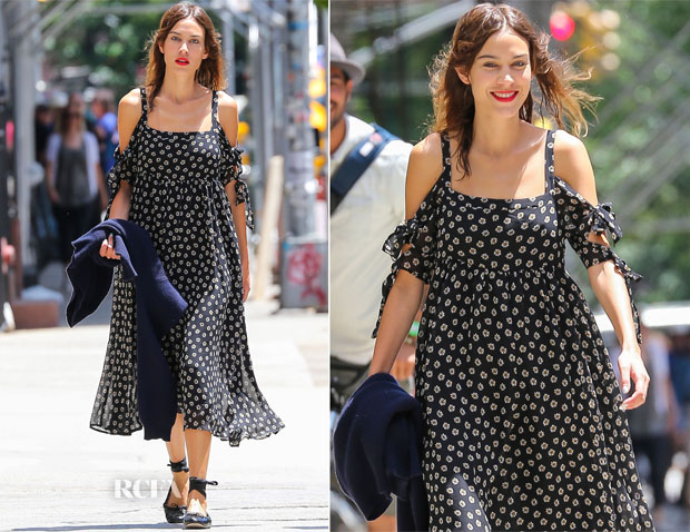 Alexa Chung In Free People - Out In New York City