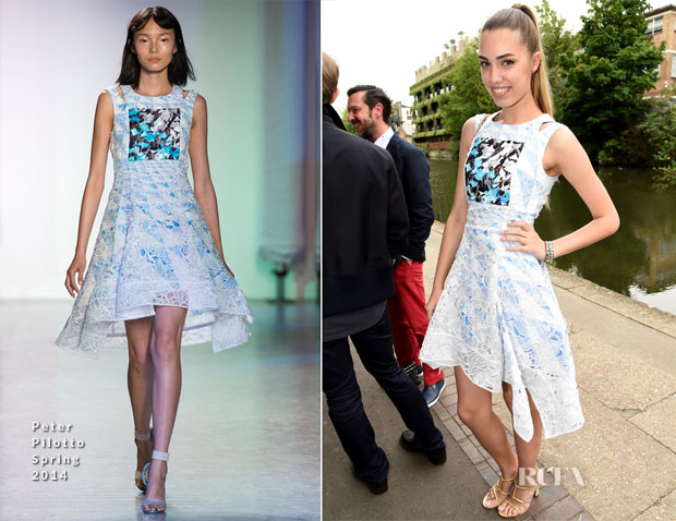 Amber Le Bon In Peter Pilotto - Peter Pilotto Dinner Hosted by mAC